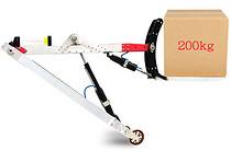 便携式电动叉车 小型锂电池铝合金手扶叉车,库房搬运神器